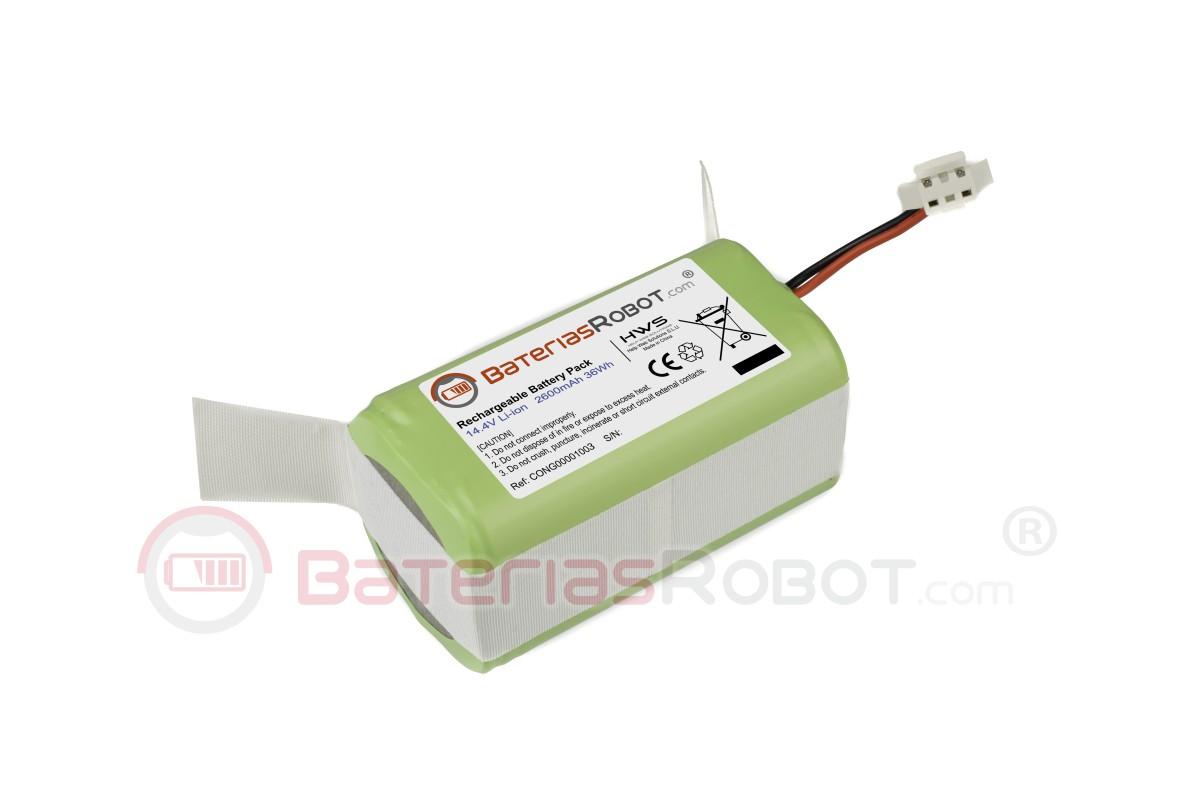 Ecovacs Deebot N79S N79 DN622 eufy RoboVac 11S 11S MAX 15C MAX 30 14,4 V 2600 mAh Li-Ion Batterie avec brosse AHJ Batterie de rechange compatible avec Cecotec Conga Excellence 990 950 1090