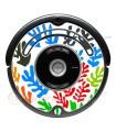POP-ART Fleurs de Matisse. Vinyle pour Roomba - Serie 500 600