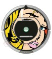 POP-ART Warhol Girl. Vinyl Roomba iRobot - Serie 700
