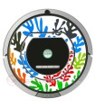 POP-ART Flores de Matisse. Vinilo para Roomba iRobot - Serie 700